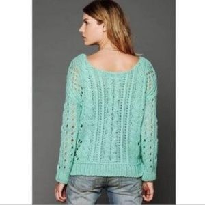 Free People Chunky Sweater Turquoise